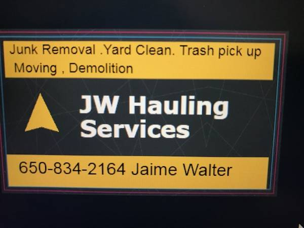 JW Hauling & Moving– Reliable, Resonable, Experiences (san mateo)